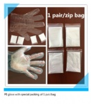 1 pair/bag PE glove